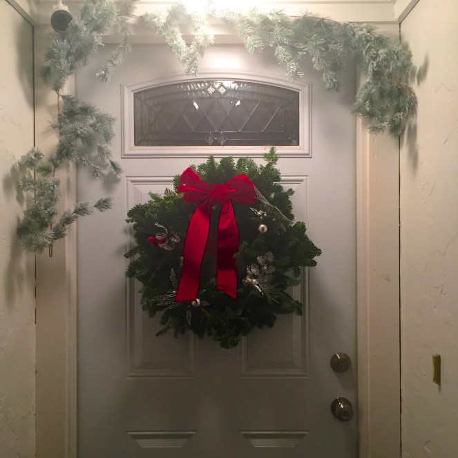 holiday decor on a budget- DIY Christmas front door wreath