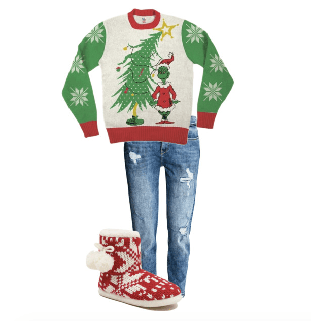what to wear to a christmas sweater party