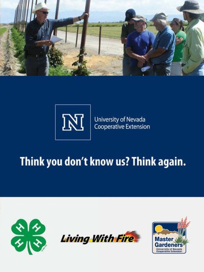 """The founders of the Cooperative Extension back in 1914 would be amazed at what the Extension has become today."" –Nevada Governor Brian Sandoval. Read about Extension today online at growyourownnevada.com/program-highlights."