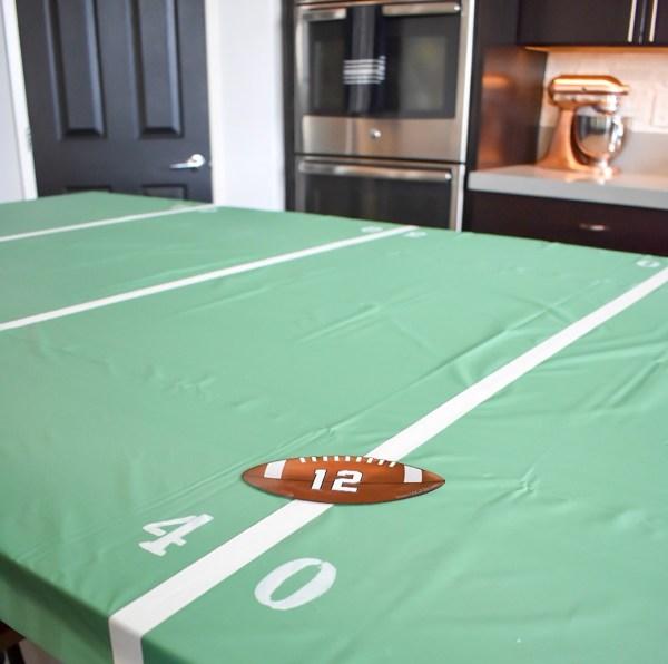 Ashley Nicole Interiors DIY Football Field Table