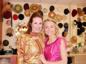 "Backstage of ""Once Upon a Mattress"" at the Woodford Theatre- 2010"