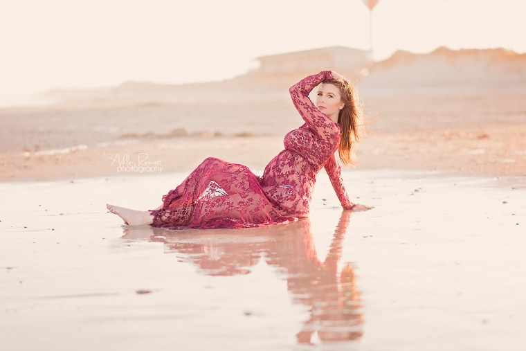 maternity portrait on beach