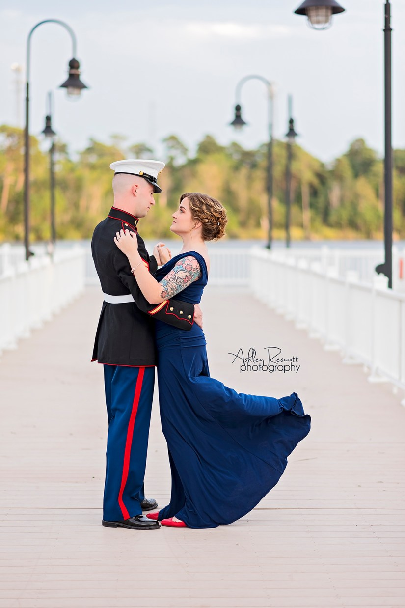 military ball portrait