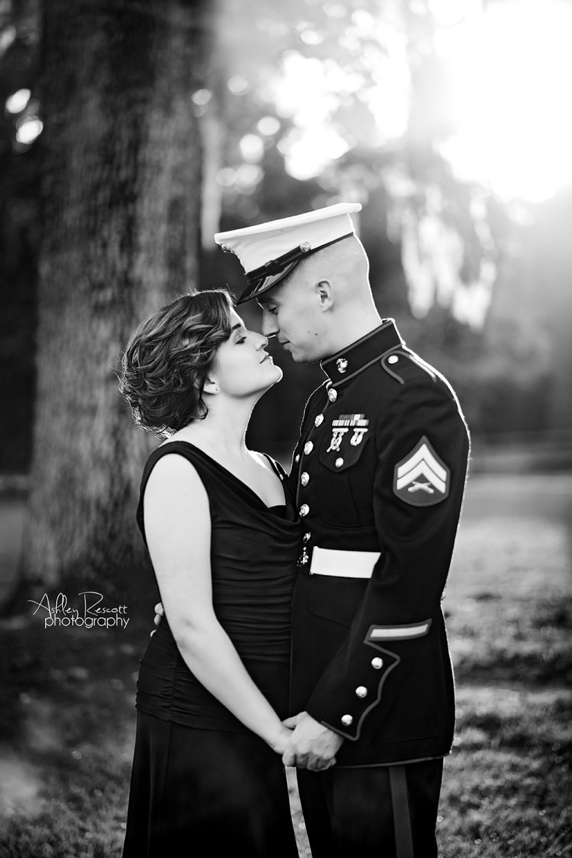 marine and his wife