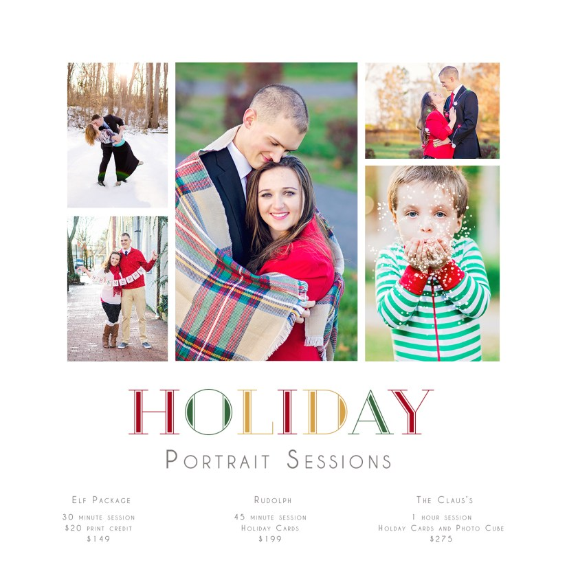 holiday portrait packages for jacksonville nc