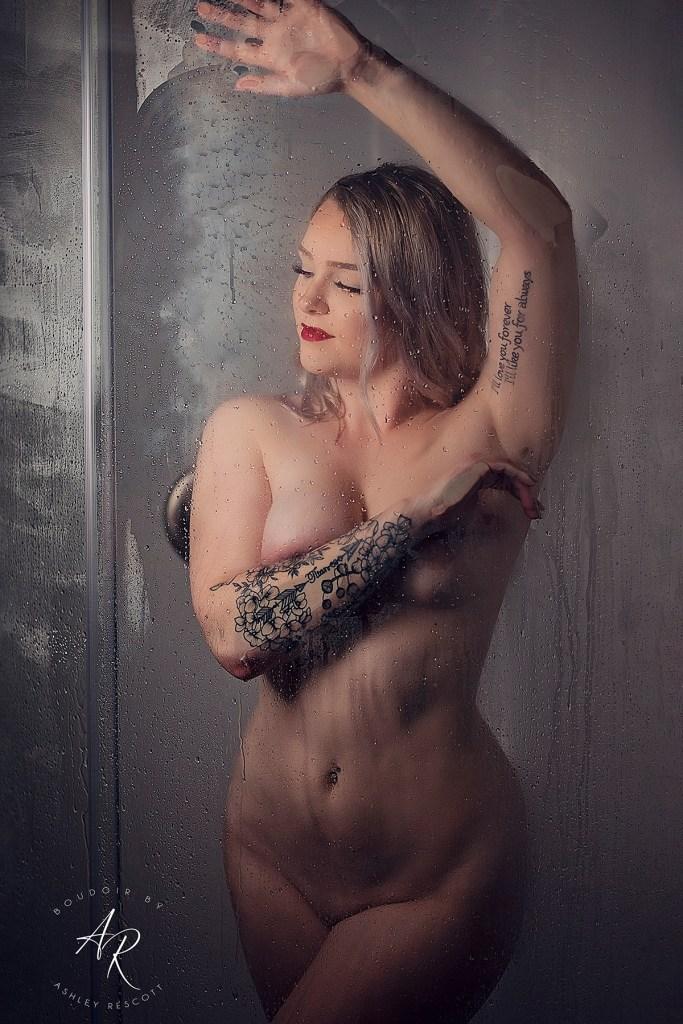 Portfolio image of shower boudoir