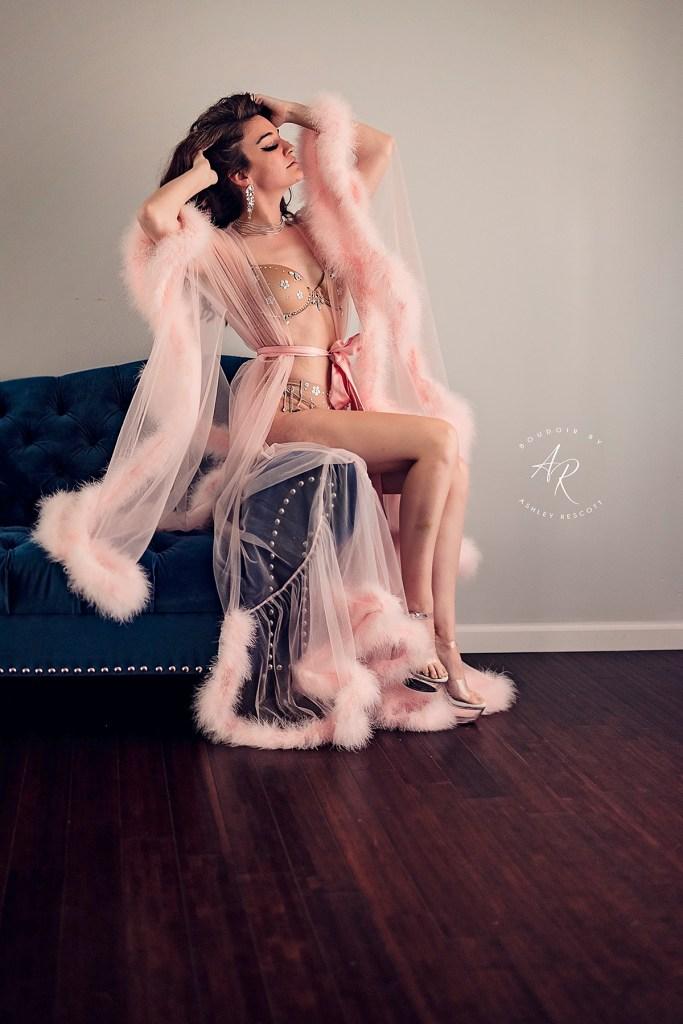 Natural light boudoir portfolio image
