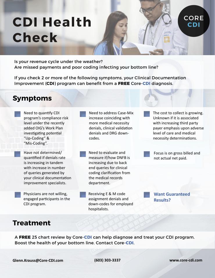 CDI Health Check Brochure
