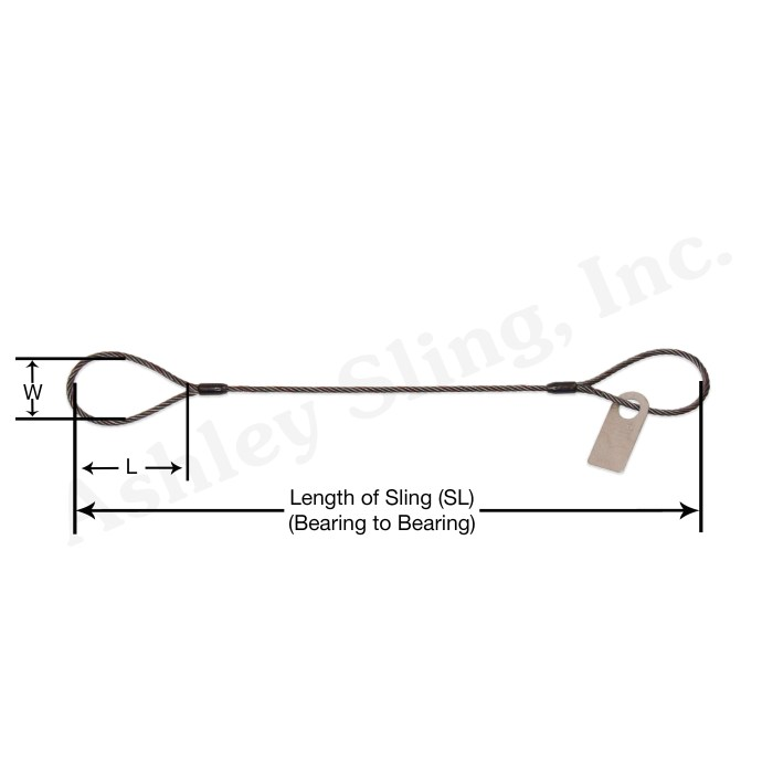Cable Laid Wire Rope Sling with Dimensions
