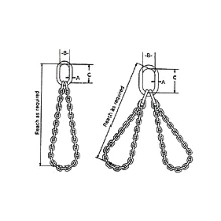 Type SB & DB Alloy Chain Sling