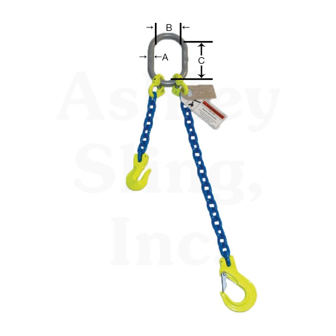 Adjustable Alloy Chain Sling Dimensions