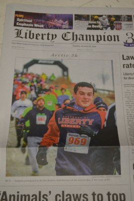 My story made the front page (kind of)!