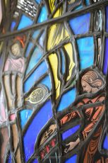 Stained glass window in the Cathedral of Learning