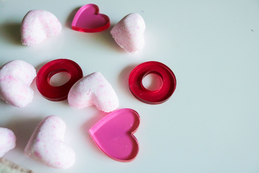 Heart Bath Bombs For Valentine's Holiday Kid Safe
