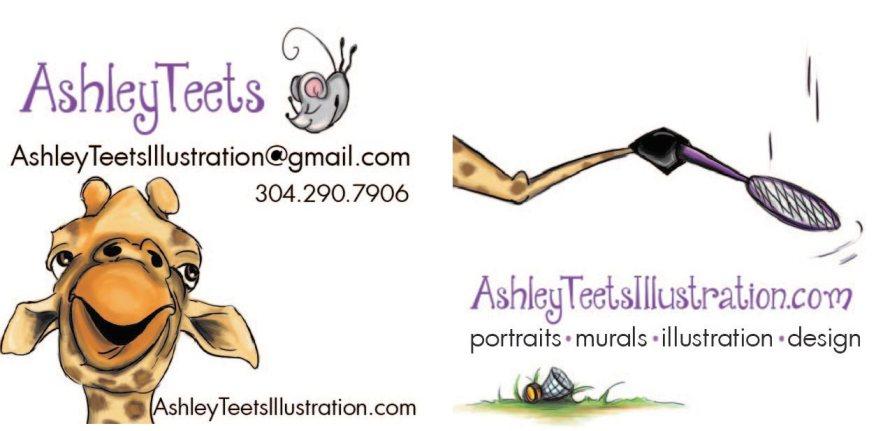 Ashley Teets Business Card Design 1