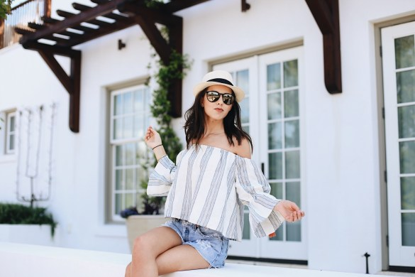 8231c54e30 Cute Beach Outfit Ideas featured by popular Los Angeles fashion blogger,  Ashley Hodges