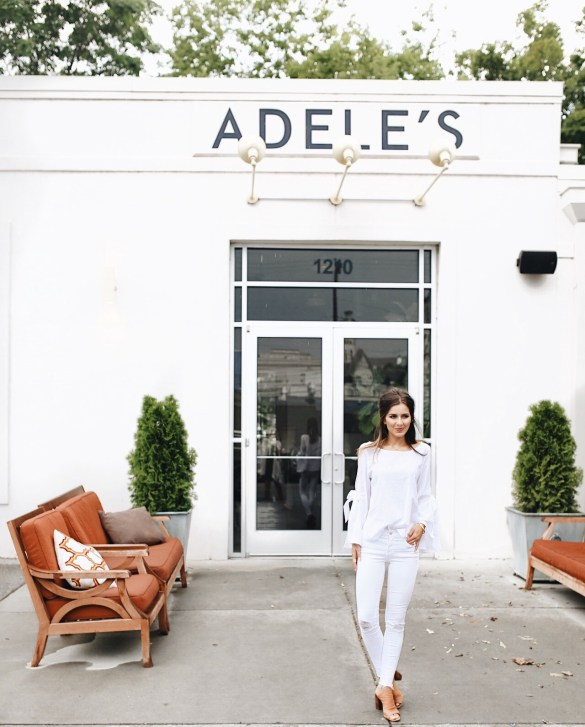 Nashville City Guide, Adele's - THE ULTIMATE NASHVILLE CITY GUIDE featured by popular Los Angeles travel blogger, Ashley Hodges