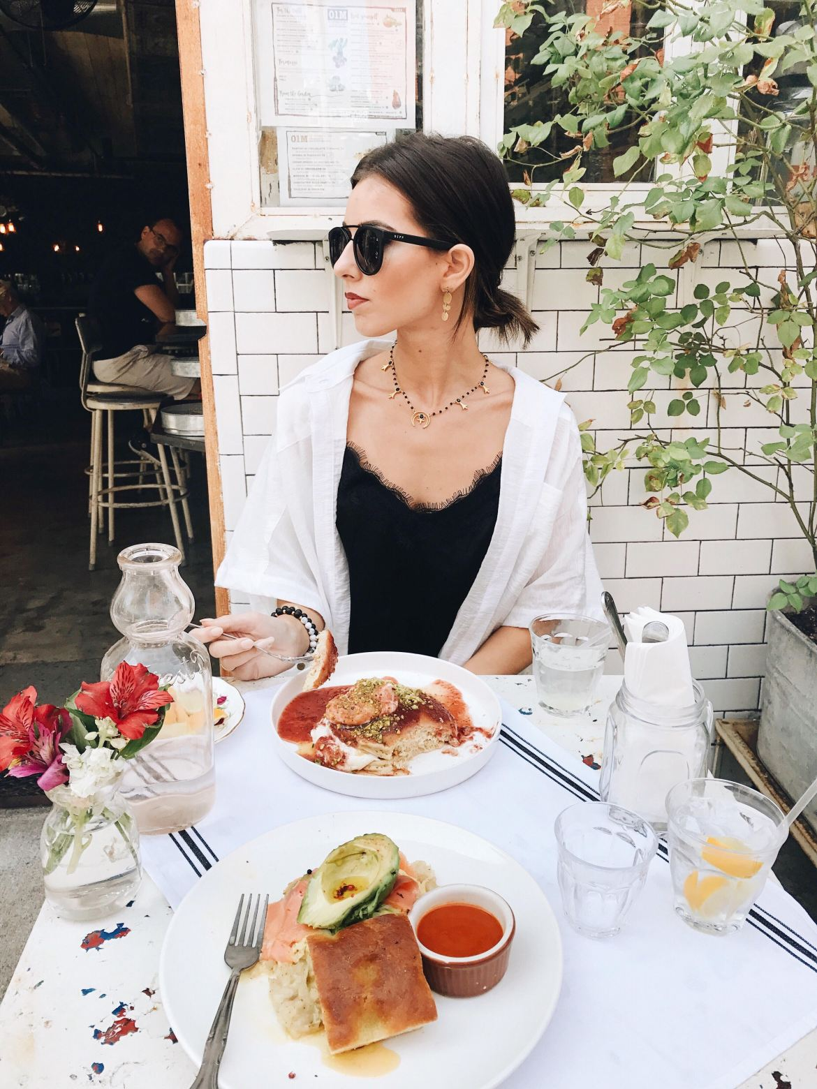 New York Fashion Week 2017 by Ashley Hodges of Ashley Terk // nyfw // NYC cafe // italian breakfast // pancakes // salmon // free people // nordstrom // diff eyewearNew York Fashion Week 2017 and Outfit Details featured by popular Los Angeles fashion blogger, Ashley Hodges