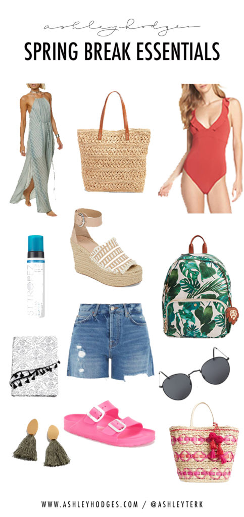 Spring Essentials, Spring Break, Bathing Suits, Beach bags, and Beach wear by Ashley Hodges of AshleyTerk.com - Spring Break Essentials featured by popular Los Angeles fashion blogger, Ashley Hodges