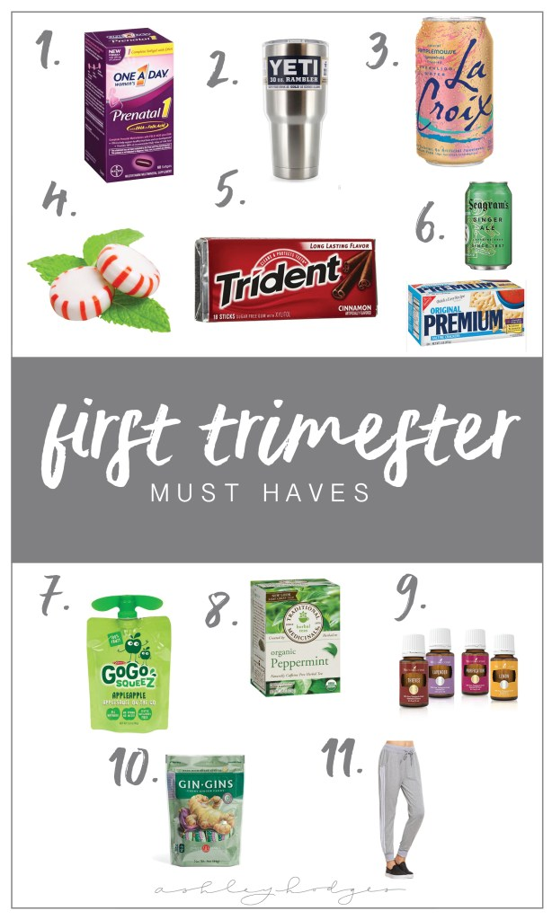 First Trimester Must Haves featured by popular Los Angeles blogger, and expecting mom, Ashley Terk.