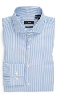 Boss Hugo Boss Jason Slim Fit Blue Striped Dress Shirt