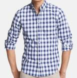 Vince Navy Slim Fit Sport Shirt