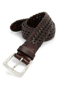 John W. Nordstrom Woven Leather Belt in Brown