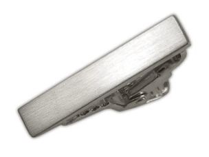 The Tie Bar Brushed Straight Silver Tie Bar