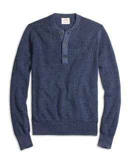 Brooks Brothers Red Fleece Henley Sweater