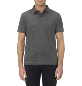 Sunspel Charcoal Jersey Polo Shirt