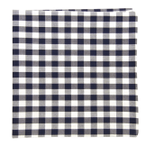 The Tie Bar Navy Cotton Table Plaid Pocket Square