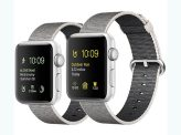 Apple Watch Silver Aluminum Pearl Case with Pearl Woven Nylon