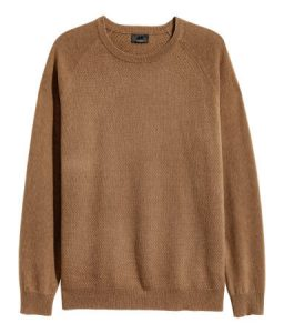 H&M Textured Knit Cashmere Sweater