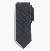 J. Crew American Wool Tie in Chalk Stripe