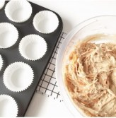 carrot cupcakes met cheesecake topping