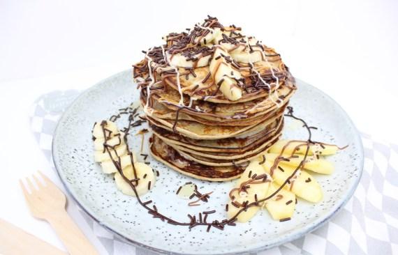 Ontbijt pannenkoeken met havermout