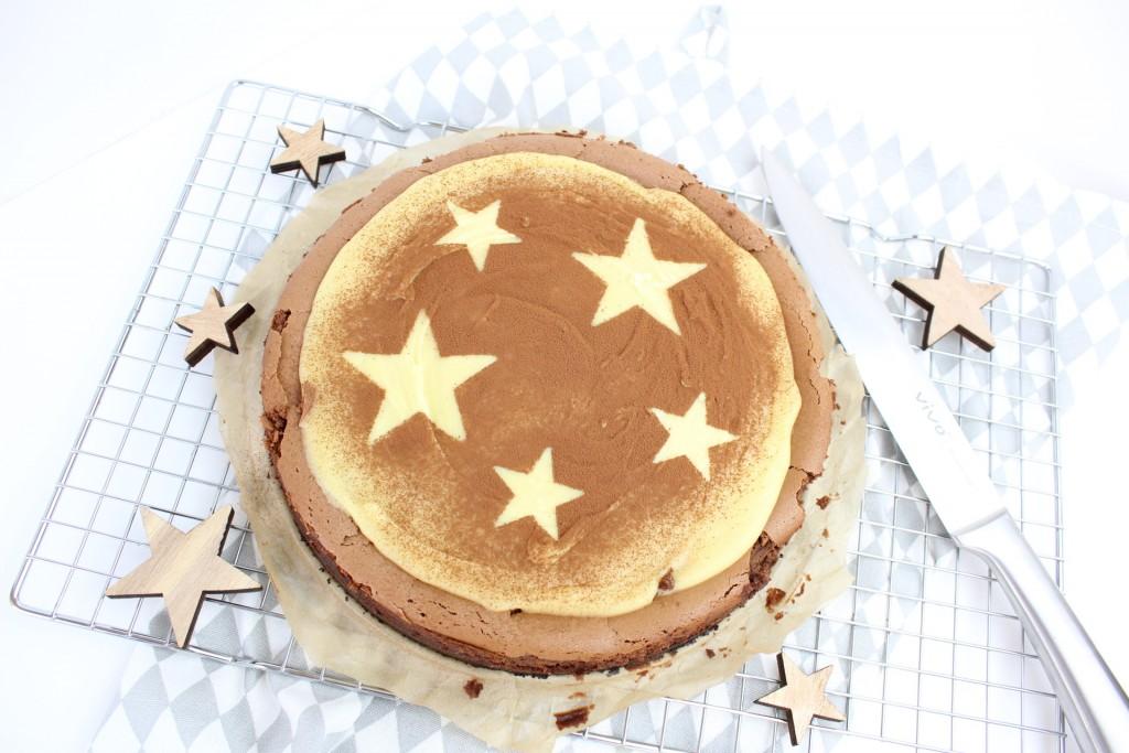Chocolade cheesecake met oreo bodem