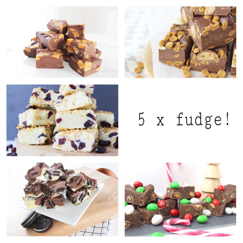 5 fudge recepten op een rij