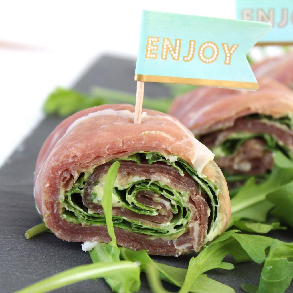 wraps van rauwe ham