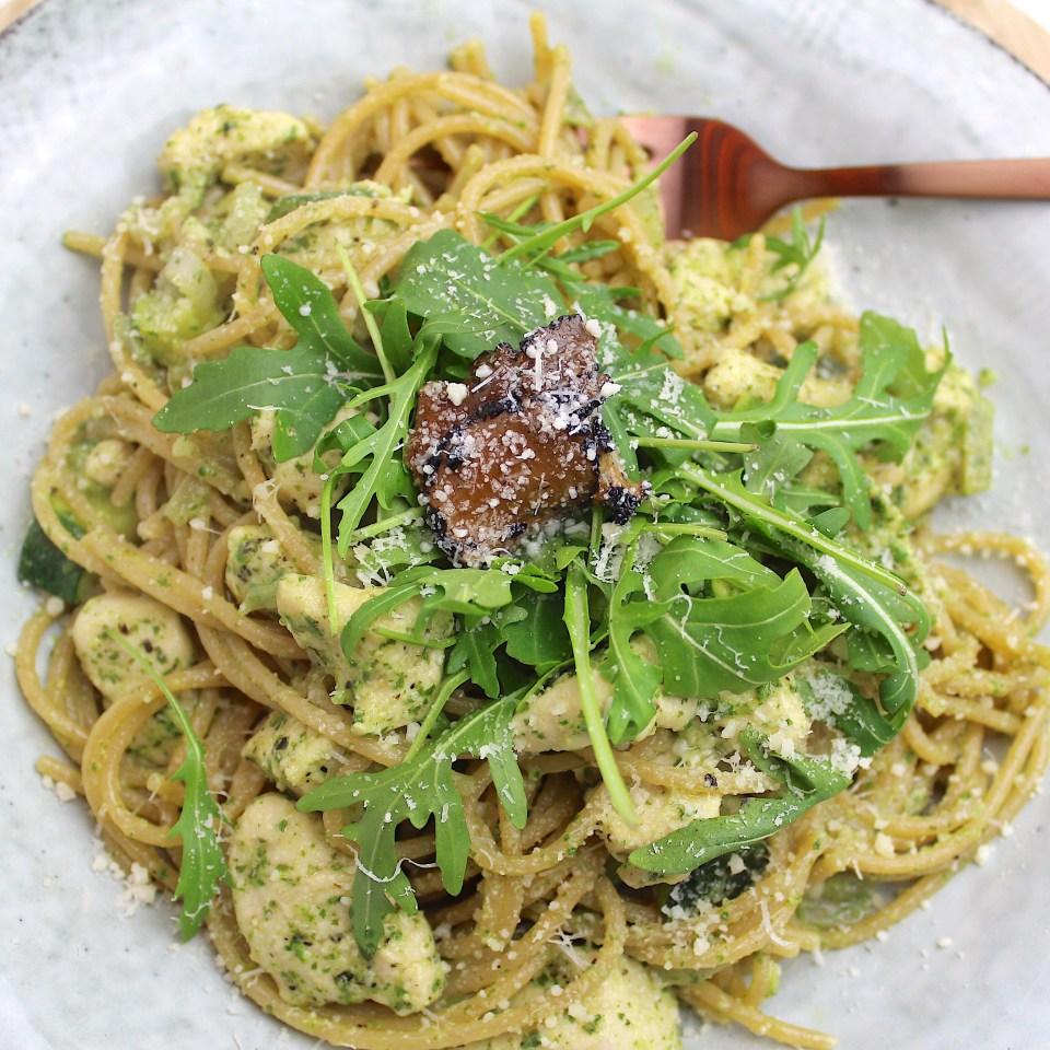 pasta met kip en truffel
