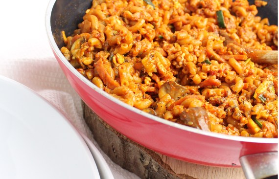 Simpele goed gevulde macaroni