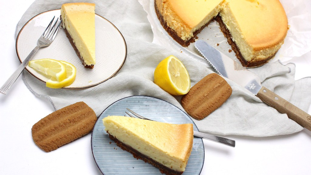 Citroen cheesecake met lemon curd
