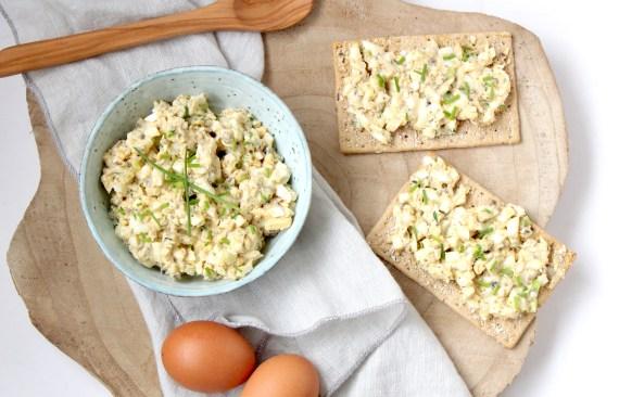 Eiersalade met truffel en bieslook