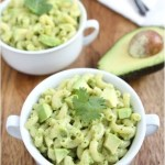 The answer to my go-to stress food: Vegan Avocado Macaroni and Cheese.