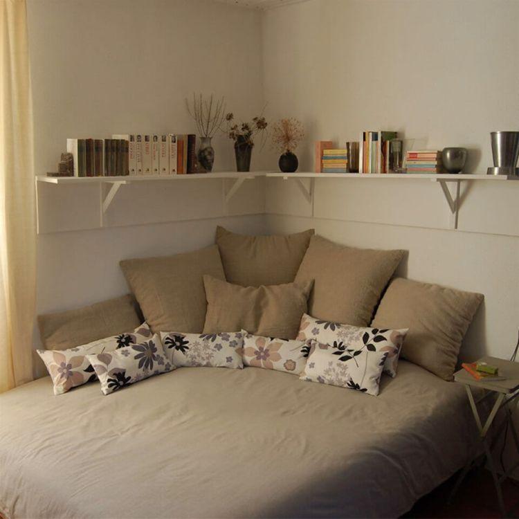 corner shelf ideas for bedroom