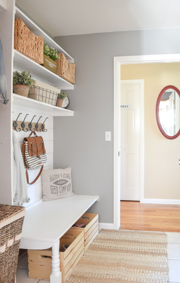 on budget mudroom ideas
