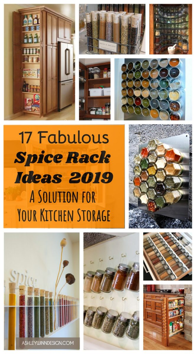 17 Fabulous Spice Rack Ideas (A Solution for Your Kitchen Storage)