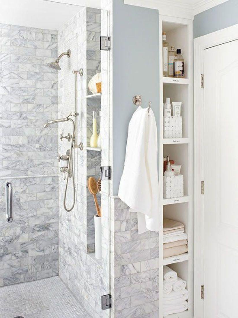 wall shelf ideas for bathroom