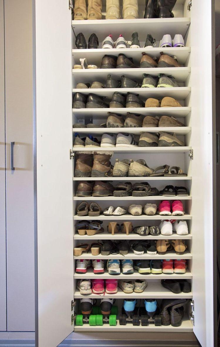 Shoe Shelf Ideas for Garage