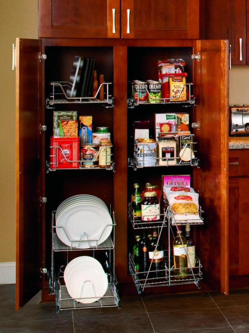 modern kitchen pantry cabinet